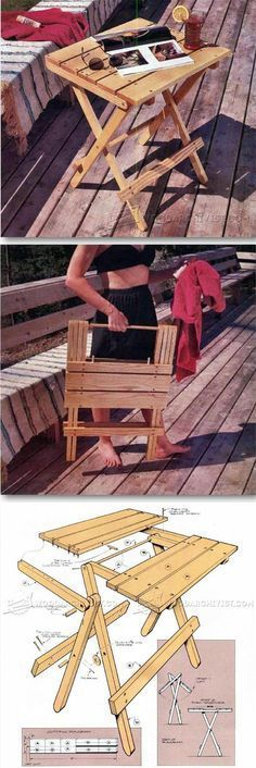 Folding Table Plans - Outdoor Furniture Plans and Projects | WoodArchivist.com