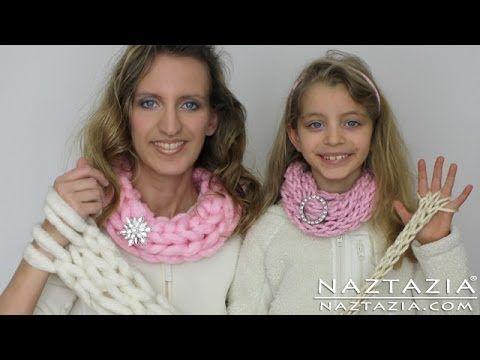 DIY Aprenda cómo - Fácil brazo bufanda que hace punto que hace punto y Finger (Arm Knit Inifinty Bufanda Cowl francés)