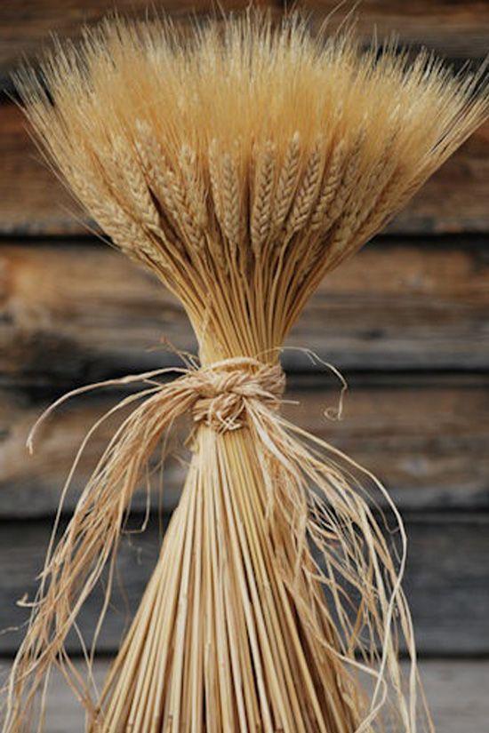 decoración de bodas rusticas ramo de trigo