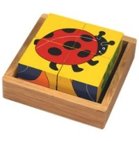 Fairtrade, Eco-Friendly Minibeasts Block Puzzle, Birth-2 Yr