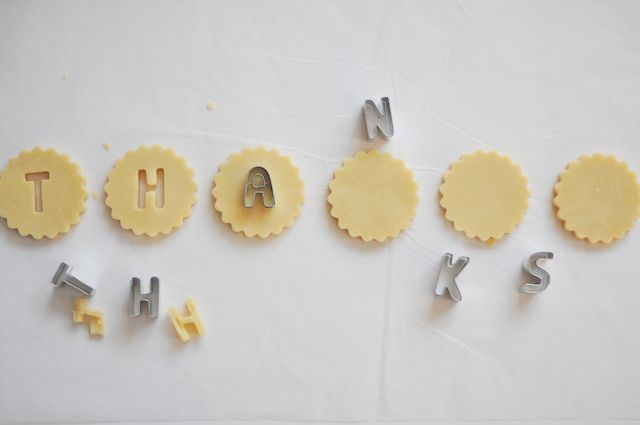 cute thank you; need alphabet cookie cutters!