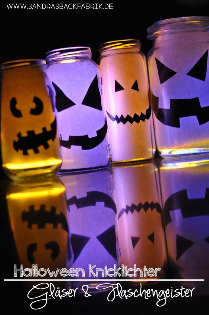 Halloween Knicklichter Lampen Gläser / Glow Stick Halloween Jars…