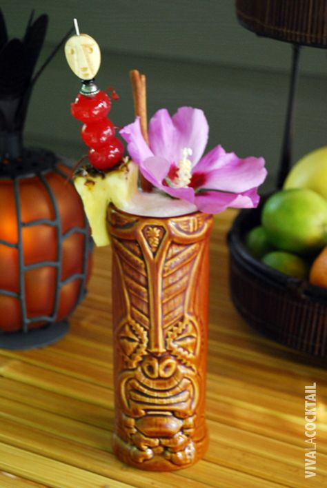 Recipes for Yummy Tiki drinks. love this one because it is served up in a beautiful Tiki mug. Reminiscent of Gilligan's Island. Thurston Howl