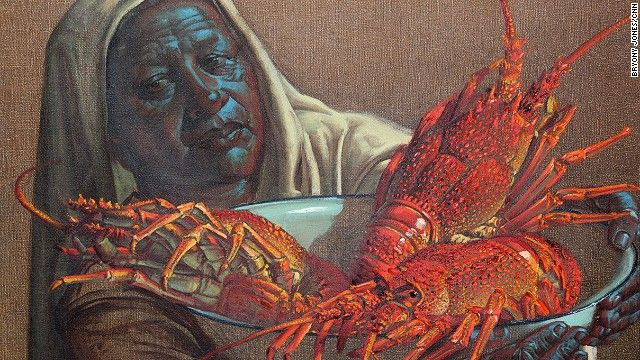 """Several of Tretchikoff's lesser-known works, including """"Lady with Crayfish"""" (1951) will also go under the hammer at the sale."""