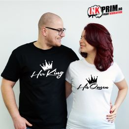 Set Tricouri Personalizate, Her King & His Queen