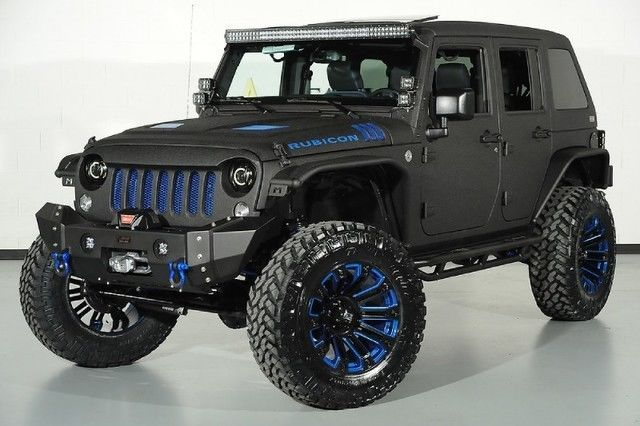 2015 Jeep Wrangler Unlimited Rubicon Kevlar Paint Lift Kit Leather Heated Seats   eBay