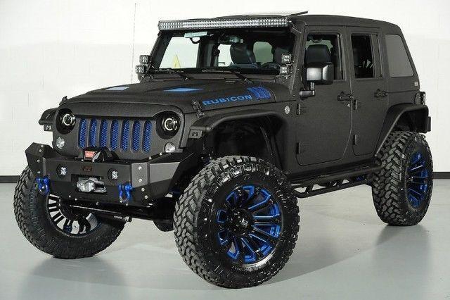 2015 Jeep Wrangler Unlimited Rubicon Kevlar Paint Lift Kit Leather Heated Seats | eBay