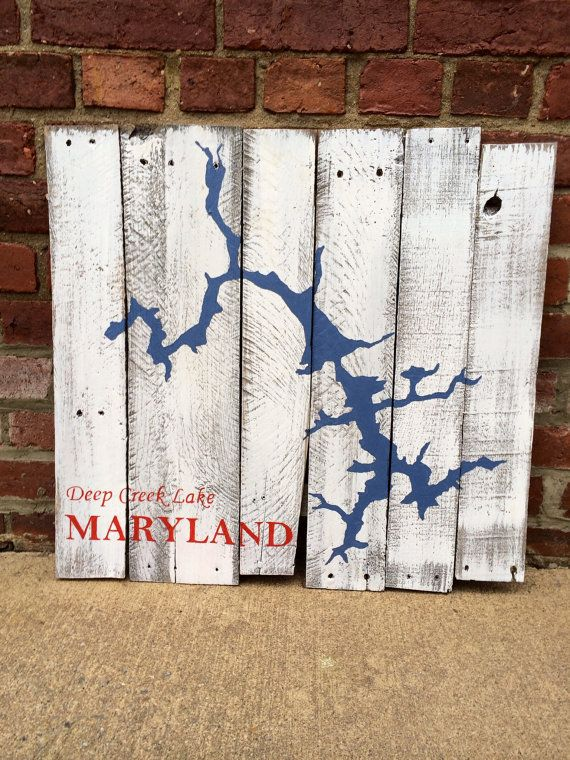 Deep Creek Lake Maryland Repurposed Pallet Board by CandPdesign