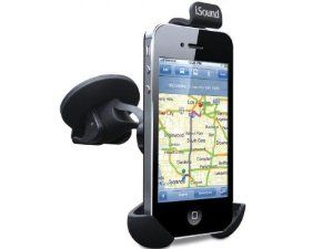 iSound Mobile Car Mount (Black) by iSound. $15.06. The Mobile Car Mount offers 360° adjustable rotation for flexibility and is compatible with most mobile devices. Made from high quality rubberized PC and ABS material, its non-slip feet hold your device steady. The Mobile Car Mount can be used in both vertical and horizontal modes and features a strong suction cup for windshield support. Includes an audio cable and a cable management clip on the back.