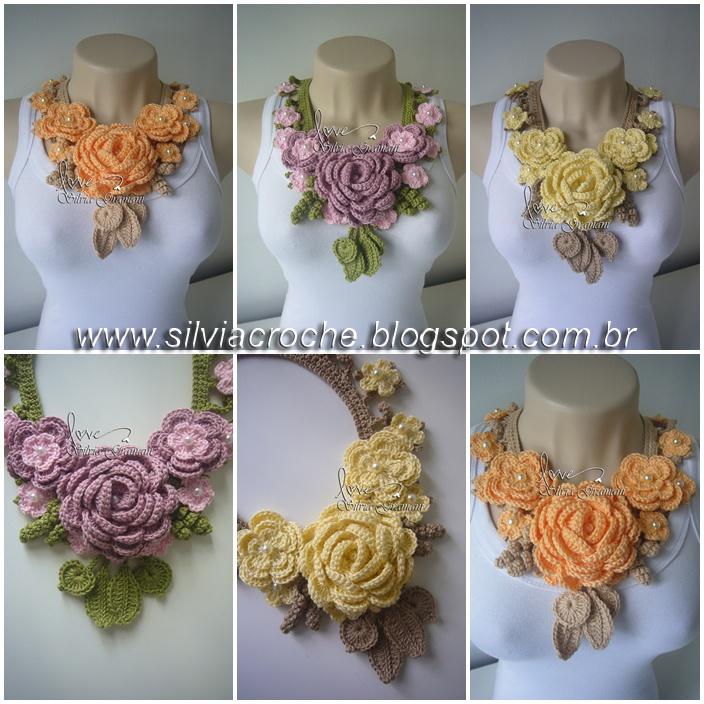 Crochet Necklace; beautiful. (No pattern)