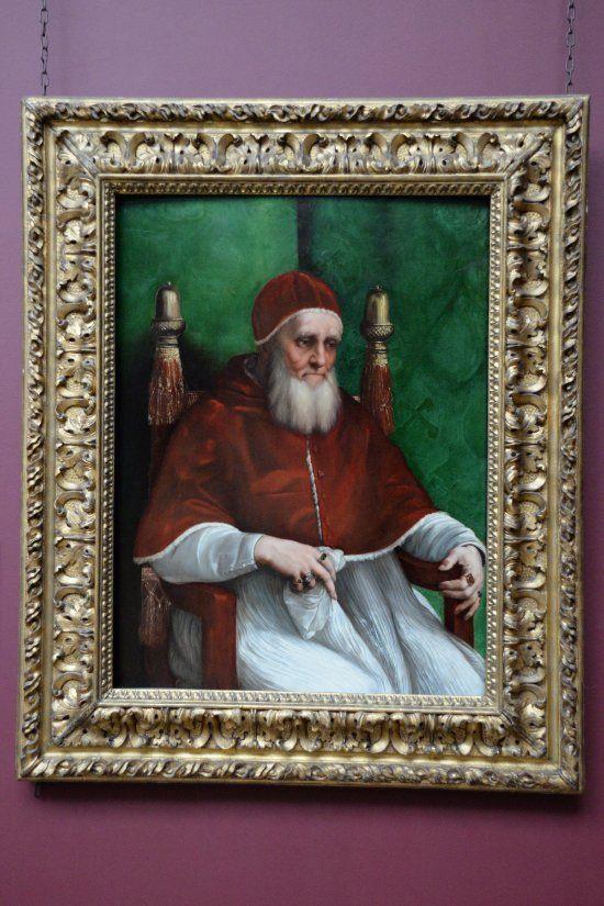 Raffaello Sanzio da Urbino Portrait of Julius II  - National Gallery London (y)