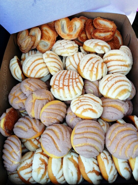 Conchas (as known as conchitas)  a Mexican sweet bread (pastry) stylized after a turtle shell,  the name translates to shell (concha/conchas) or a mini/baby style/cute version of shell (conchita/conchitas)  and is a translation that holds/use context to the turtle shell stylized shape,  the brown flaky looking pastry is known as orejas which translates to ears.  Again named after their dual ear shape