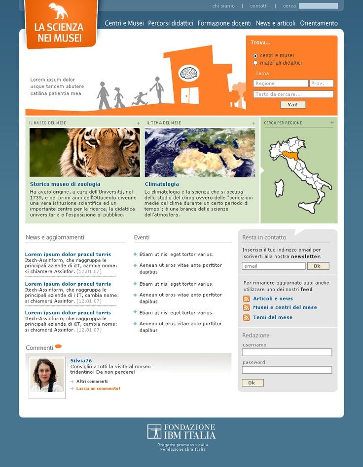 La Scienza nei musei | Web | 2007
