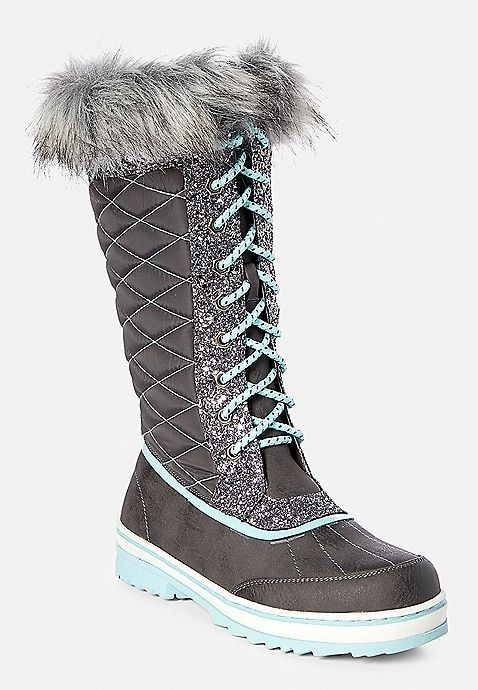 Sparkle Snow Boot   Justice size 8.5