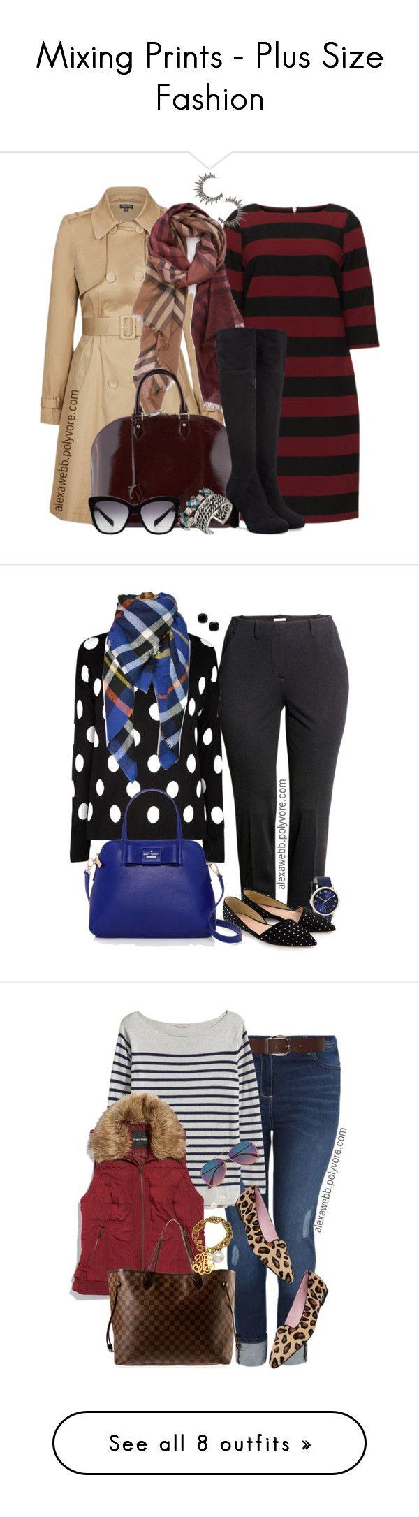 Mixing Prints - Plus Size Fashion by #alexawebb on Polyvore - http://www.alexawebb.com/the-new-neutrals-plus-size-fashion/