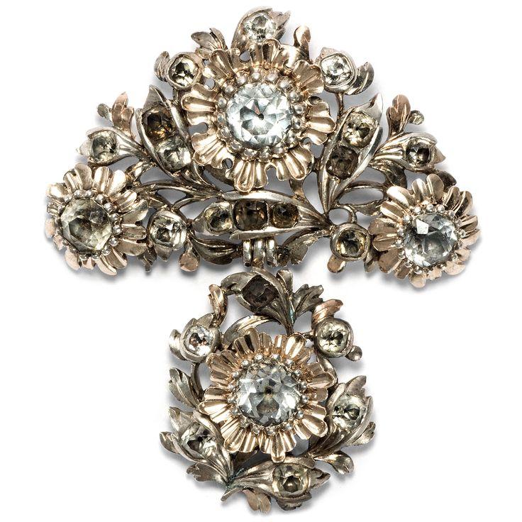 Funkelnde Surrogate - Rokoko-Anhänger aus Glaspasten in Silber & Gold, Frankreich um 1760 von Hofer Antikschmuck aus Berlin // #hoferantikschmuck #antik #schmuck #Anhänger #antique #jewellery #jewelry // www.hofer-antikschmuck.de