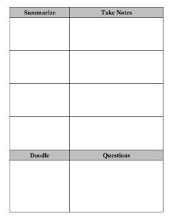 Note Taking Template Word. study notes template printable ...