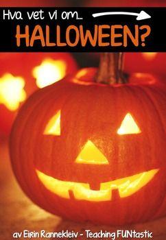 """*BOKML* Denne """"Hva vet vi om...?""""-pakken er alt om HALLOWEEN! Pakken kan brukes som et helt opplegg med stasjonsundervisning over flere dager, eller som enkeltaktiviteter. Opplegget er nivdelt, slik at det passer for elever helt fra 1.-4. klasse. Opplegget kan brukes selvom ikke alle elevene feirer Halloween."""
