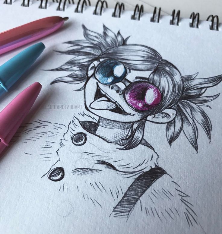 """423 Me gusta, 6 comentarios - Freelance Illustrator (@claudiarosadoart) en Instagram: """"#NOODLEZ from #Gorillaz. I doodled this while taking breakfast,  I never expect good results when I…"""""""