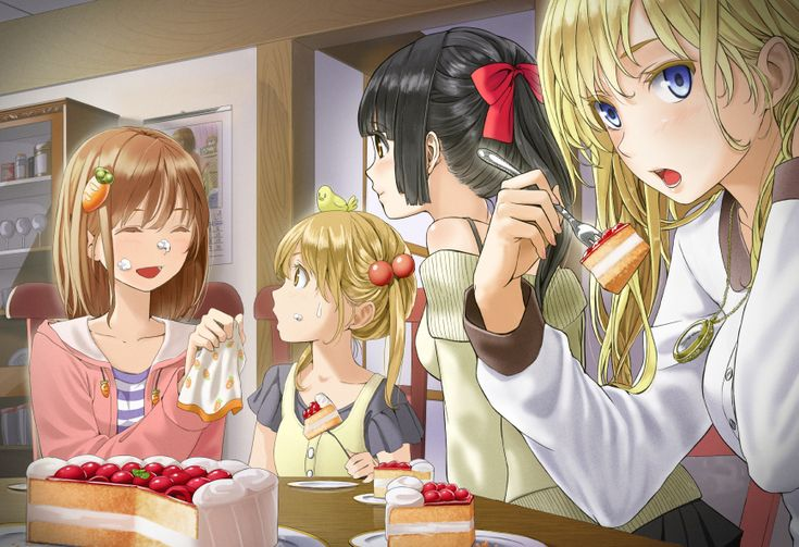Anime Characters Eating : Anime art food eating ke berries