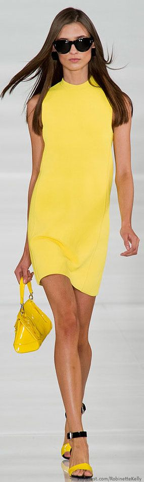 Ralph Lauren | S/S 2014. - Cute little day dress for shopping!  I might recreate in turquoise or pink for me.