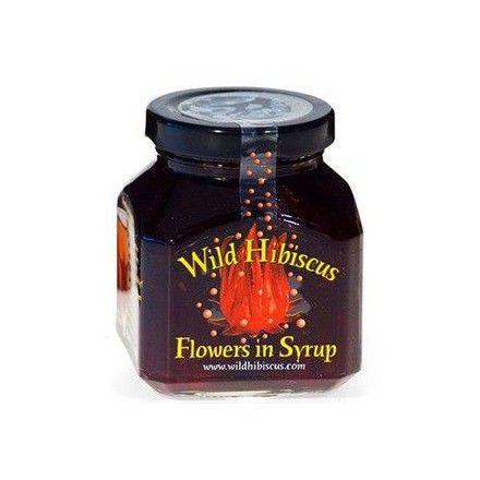 La tienda online gourmet y delicatessen Érase un gourmet vende tarros de 11 flores de hibisco en almíbar para coctelería. Marca Wild Hibiscus