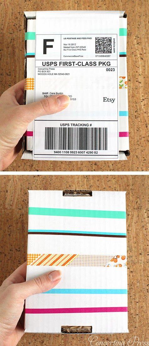 Washi Tape – etsy packaging idea – DIY Crafts