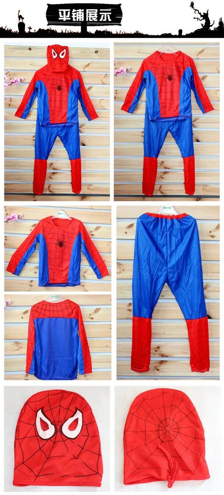 Hot Sale Spiderman Halloween Costumes for Children Hot Kids Christmas Costume Free Shipping
