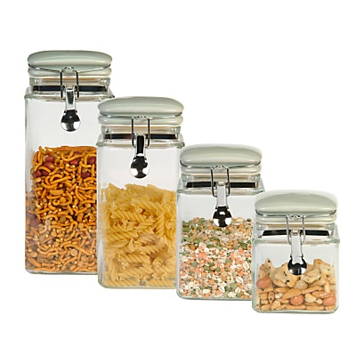 Buy Garden Trading Square Glass Storage Jar, Clay online at JohnLewis.com - John Lewis