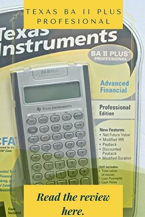 Texas BA II Plus Professional is one of the approved calculators for the CFA exam. It is known for its sturdy build and brilliant features. Read the review here.