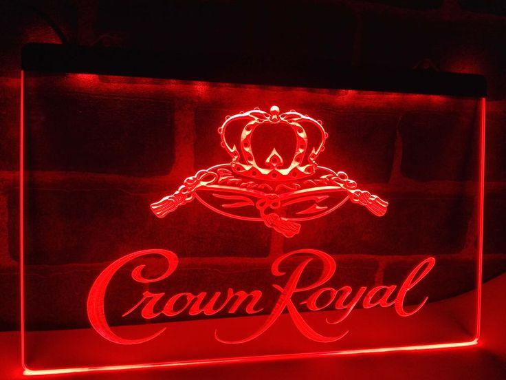 Crown Royal Derby Whiskey NR beer Bar Light Sign home