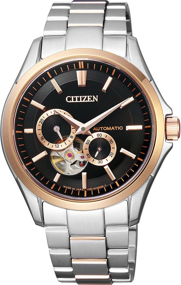 368CITIZEN Collection Mechanical made in Japan See-through back NP1014-51E mens #CitizenCollection