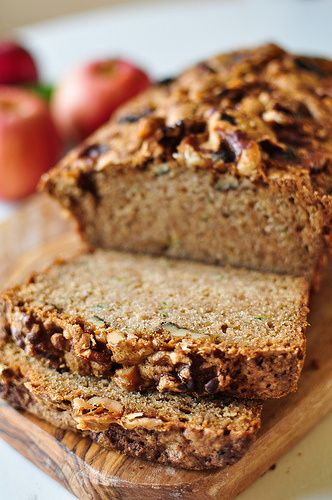 Apple Zucchini Bread. Make sure to use non GMO zucchini.