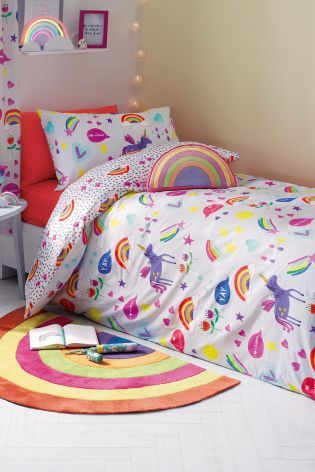 £18 next gift card.....Buy Rainbow And Unicorn Bed Set from the Next UK online shop