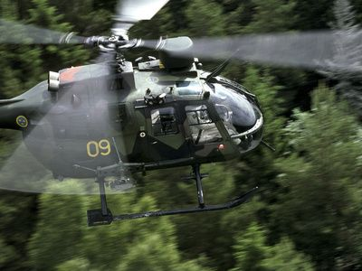 MBB Bo 105 Helicopter of the Swedish Air Force