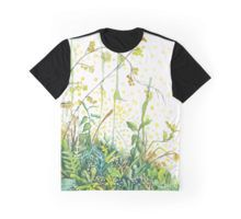 Watercolor wildflowers graphic t-shirt by Alicja August