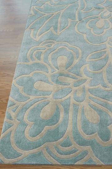 Pretty aqua rug