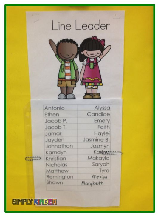 602 best Teaching Kindergarten images on Pinterest Preschool - line leader