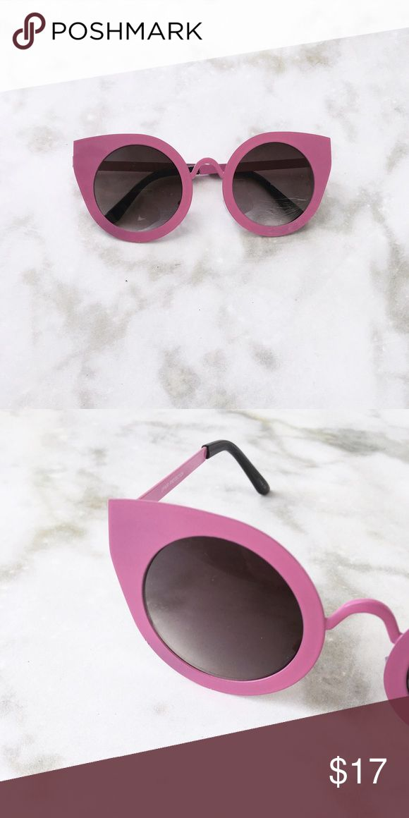 PINK THICK FRAME CATEYE SUNGLASSES Pink thick frame Cat eye sunglasses. Black lens. Price firm. Style Link Miami Accessories Sunglasses