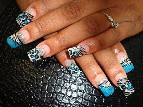 BLUE CHEETAH!!! MY DREAM: Blue Zebras, Nails Art, ღღNail Art, Blue Leopards, Zebras And Cheetahs Nails, Blue Cheetahs, Nails Ideas, Zebras Nails, Nails Polish