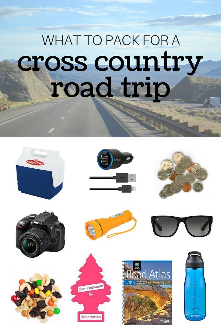 What to pack for a cross country road trip -- all the necessary items and a bunch to make your life so much easier while on the road!  Great pin - will definitely look back at this before my next road trip!