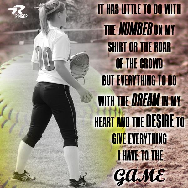 Softball - It's All About The Game! #Softball