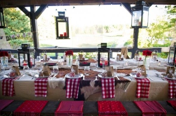 Backyard Rehearsal Dinner Ideas - the seat cushions/ coverings are a great idea