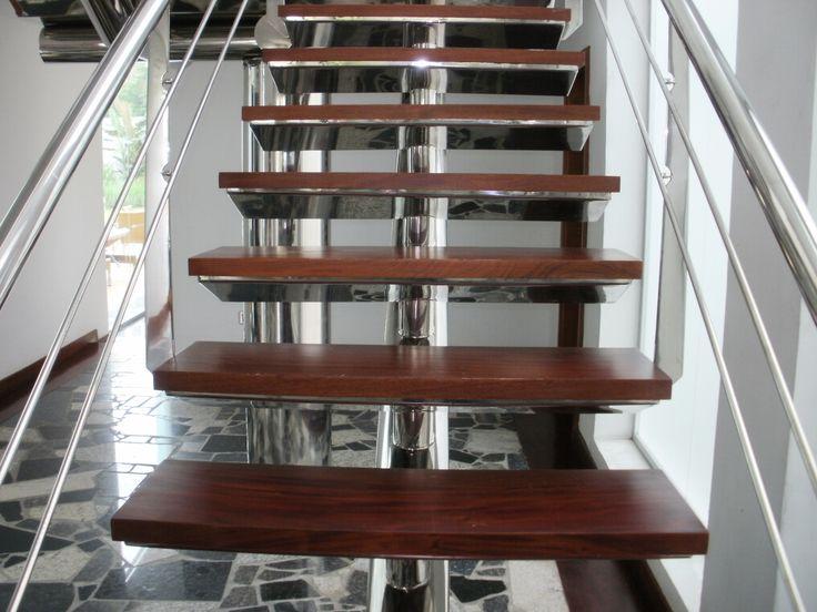 1000 ideas sobre pasamanos de madera en pinterest for Escaleras 5 tramos