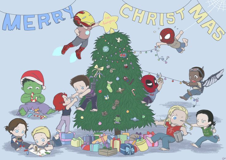 The Avengers Babies Christmas Card by SilasSamle.deviantart.com on @DeviantArt