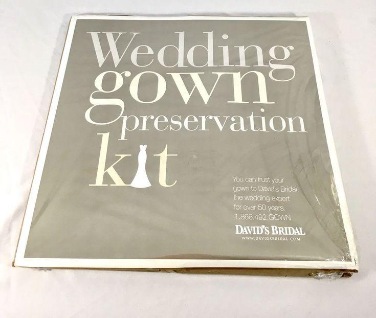 Wedding Gown Preservation Kit New in Box Davids Bridal Dress Storage $189 Retail    eBay