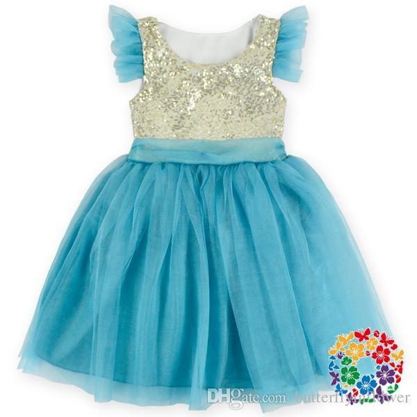 2016 04 Fashion Design Small Girls Dress Kids Baby Birthday Party ...