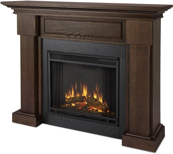 Real Flame - Hillcrest Electric Fireplace - Chestnut Oak