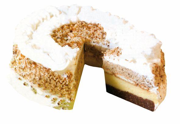 Torta bajadera 30 dag mljevenih keksa   20 dag šećera u prahu  25 dag margarina   10 dag čokolade   2 dcl džusa  20 dag mljevenih oraha   1/2 l mlijeka   2 vrećice pudinga od vanilije   šlag za ukrašavanje