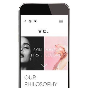 Velvet Cosmetica responsive website designed by Handsome Ground.